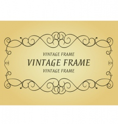 swirl vintage frame vector image