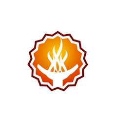 torch logo design template vector image