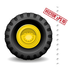 Tractor wheel vector image