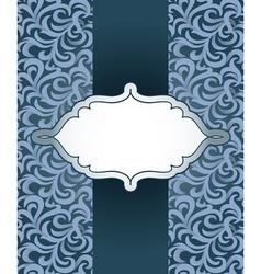 Vintage frame with pattern vector
