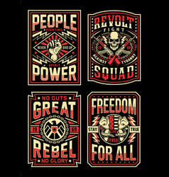 Vintage propaganda t-shirt designs collection vector