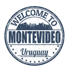welcome to montevideo sign or stamp vector image