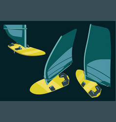 windsurf color sketches vector image