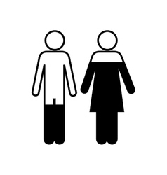 woman and man pictogram icon image vector image
