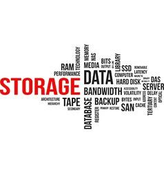 word cloud storage vector image