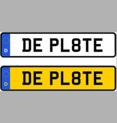 germany number plate vector image
