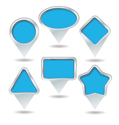 map pin collection vector image