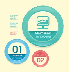 Modern Design circle soft colour template vector image vector image