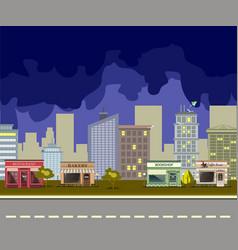 night city landscape vector image