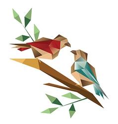 Origami sparrow vector image vector image