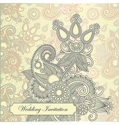 ornate frame wedding invitation vector image vector image