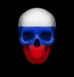 Russian flag skull vector image vector image