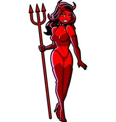 Sexy Devil Girl vector image vector image