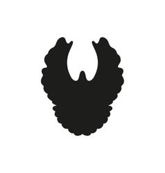 silhouette of simple black dove vector image