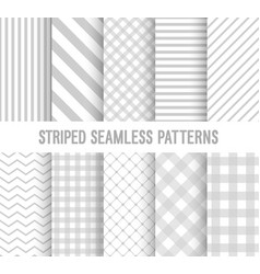 striped seamless patterns collection vector image vector image