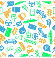 Taxi icons color seamless pattern eps10 vector