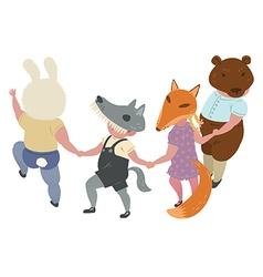 Dancing-Children vector image vector image
