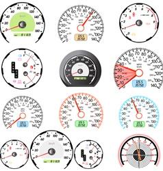 speedometers set vector image