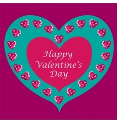 Crystal hearts Valentine day vector image vector image