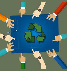 Recycling plan strategy on environmentally vector