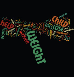 teen weight loss text background word cloud vector image vector image