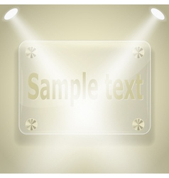 glass frame with spotlights vector image vector image