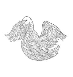 monochrome hand drawn zentagle of fox Coloring vector image vector image