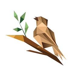 Origami sparrrow vector image vector image