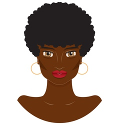 portrait of a beautiful African-American women vector image vector image