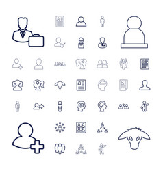 37 profile icons vector