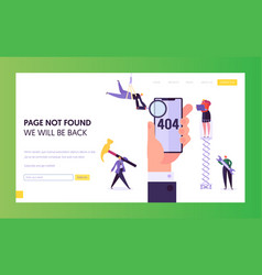 404 maintenance error landing page template vector image
