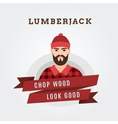 a lumberjack forester vector image