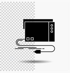 Audio card external interface sound glyph icon on vector