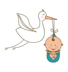 Baby delivery crane icon image vector