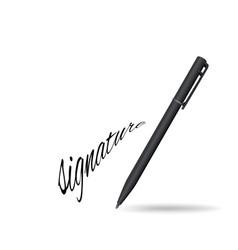 ball pen ans signature vector image