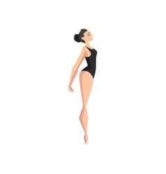 ballet dancer professional ballerina dancing vector image