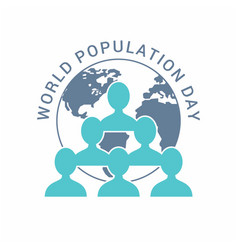 Banner or poster of world population day peoples vector
