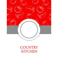 Banner with sign - country cintchen vector