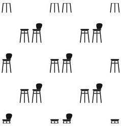 Bar stool icon in black style isolated on white vector