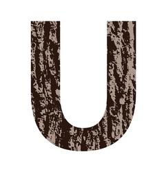 Bark letter U vector