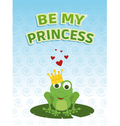 be my princess card vector image