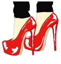 Beautiful shoes for a sexy woman vector image