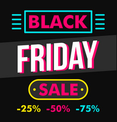 black friday sale concept background flat style vector image