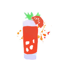 bloody mary cocktail colorful hand drawn vector image