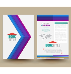 Brochure design template flyer layout magazine cov vector