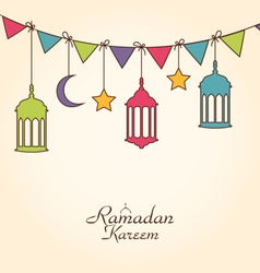 Celebration Card for Ramadan Kareem vector image
