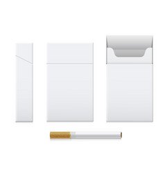cigarette pack realistic set cardboard template vector image