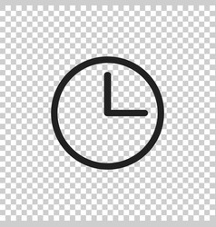 Clock icon flat clock pictogram vector