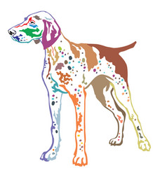 Colorful decorative standing portrait of german vector