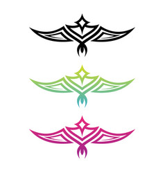 colorful tribal wing vector image